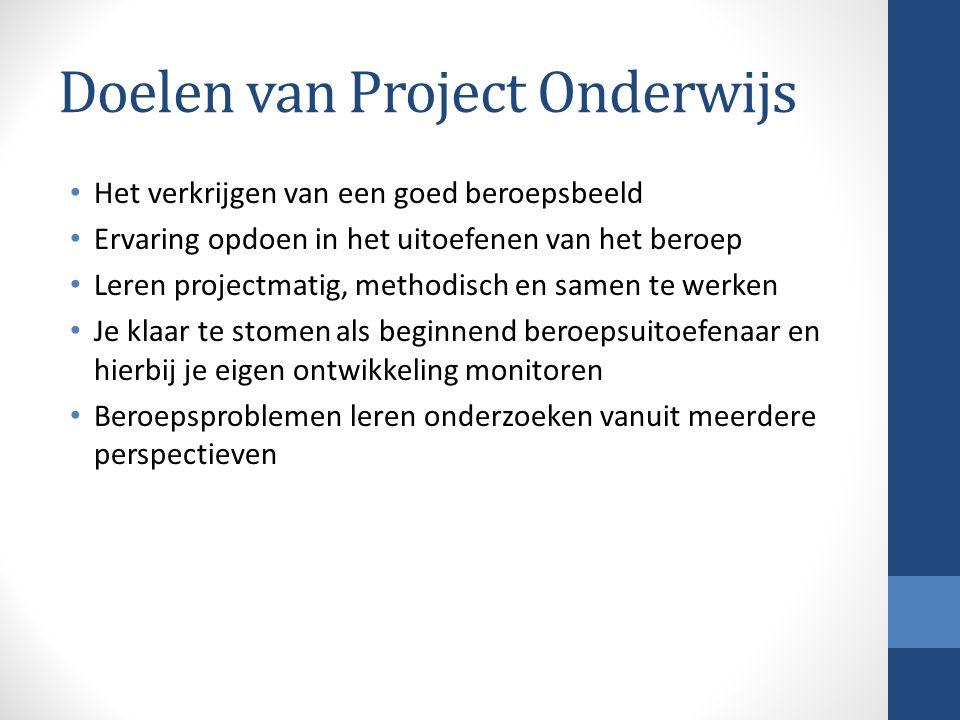 Doelen van Project Onderwijs