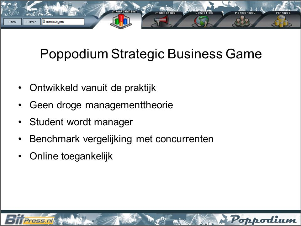 Poppodium Strategic Business Game