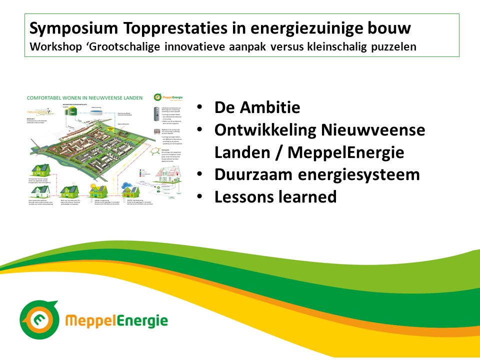 Symposium Topprestaties in energiezuinige bouw