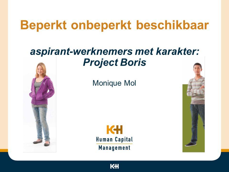 Beperkt onbeperkt beschikbaar aspirant-werknemers met karakter: Project Boris Monique Mol
