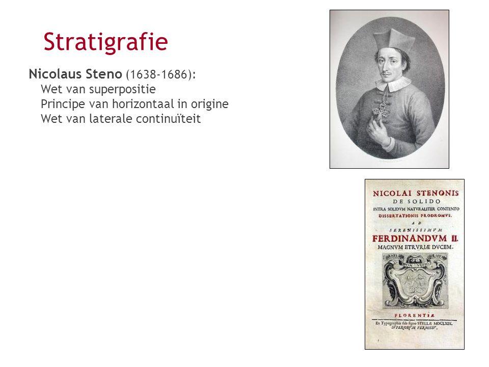 Stratigrafie Nicolaus Steno (1638-1686): Wet van superpositie