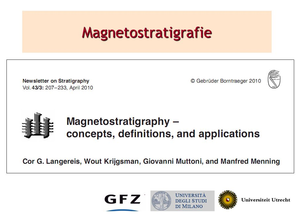 Magnetostratigrafie Animated. Title blok appears on click.
