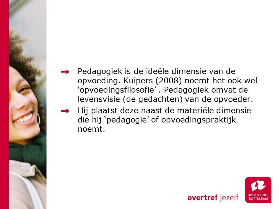 Pedagogiek is de ideële dimensie van de opvoeding
