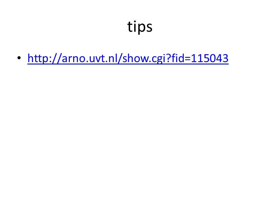 tips http://arno.uvt.nl/show.cgi fid=115043