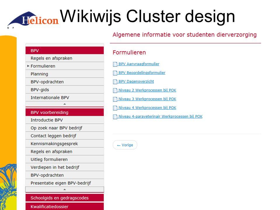 Wikiwijs Cluster design
