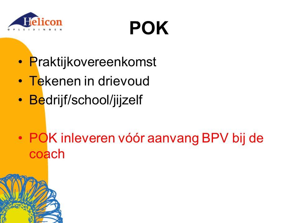 POK Praktijkovereenkomst Tekenen in drievoud Bedrijf/school/jijzelf