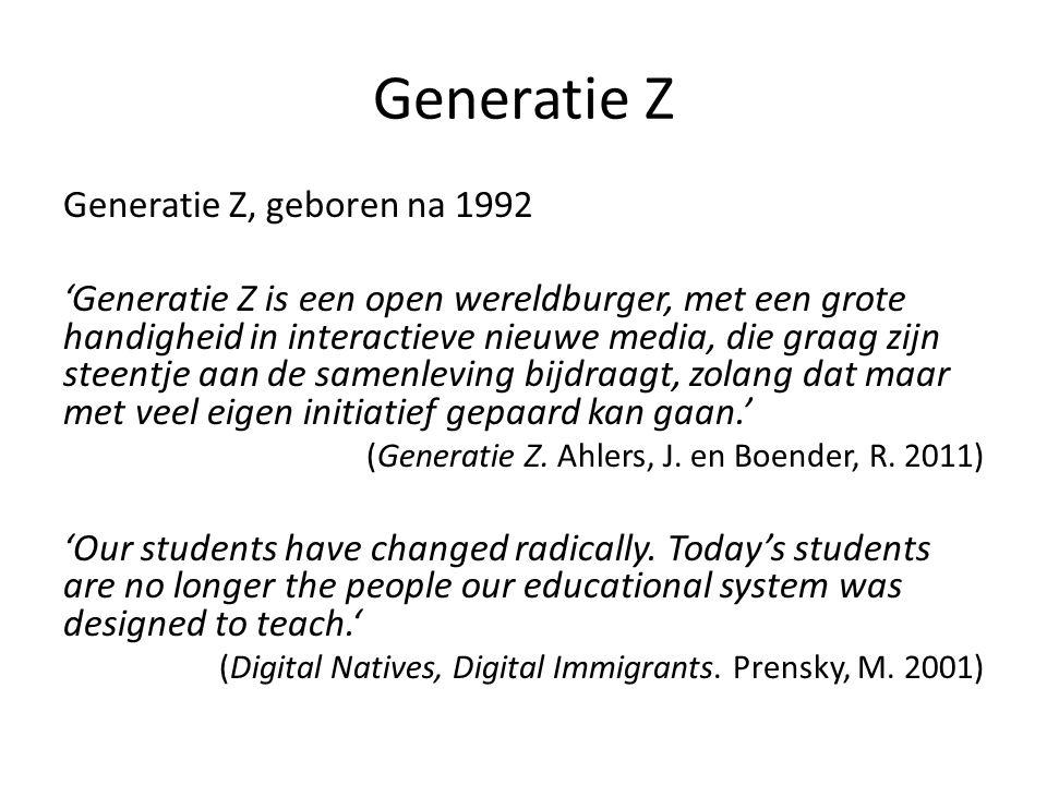 Generatie Z Generatie Z, geboren na 1992