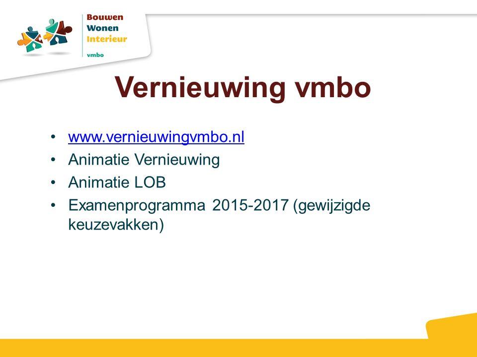 Vernieuwing vmbo www.vernieuwingvmbo.nl Animatie Vernieuwing
