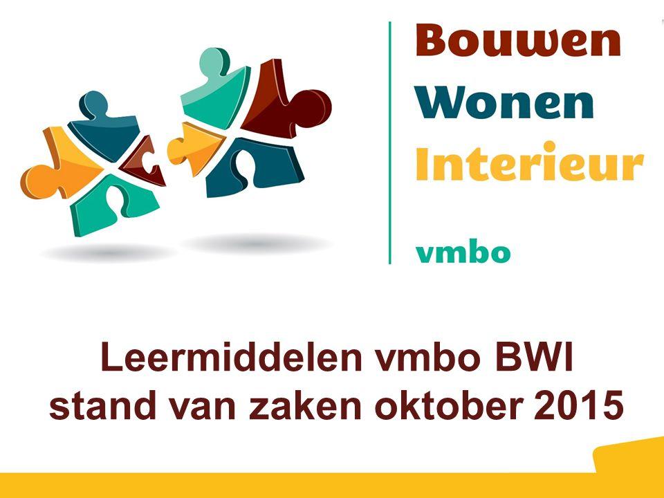 Leermiddelen vmbo BWI stand van zaken oktober 2015