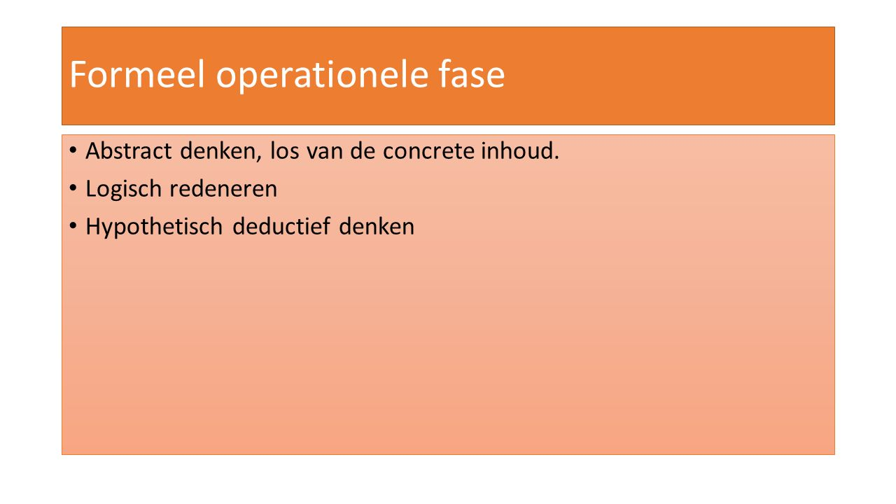 Formeel operationele fase
