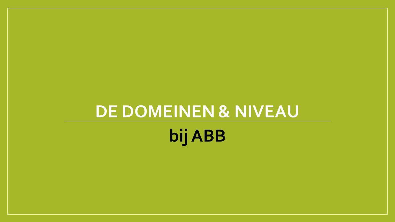 De domeinen & Niveau bij ABB