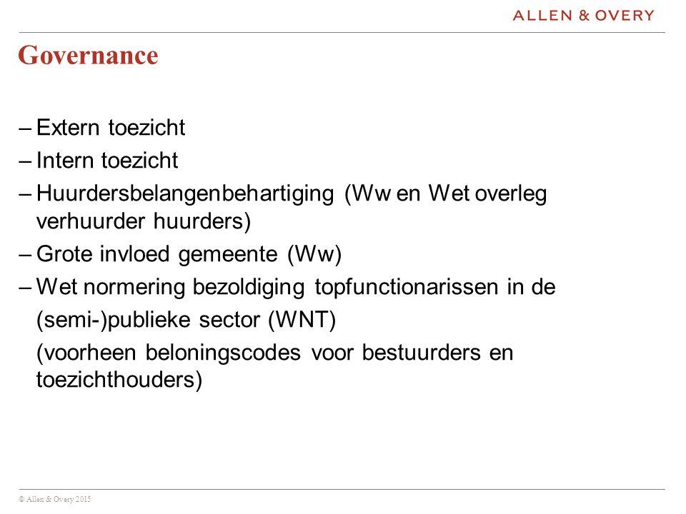 Governance Extern toezicht Intern toezicht