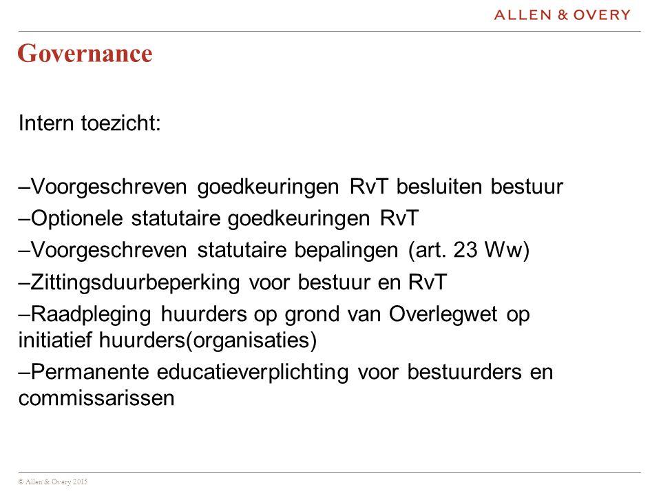 Governance Intern toezicht: