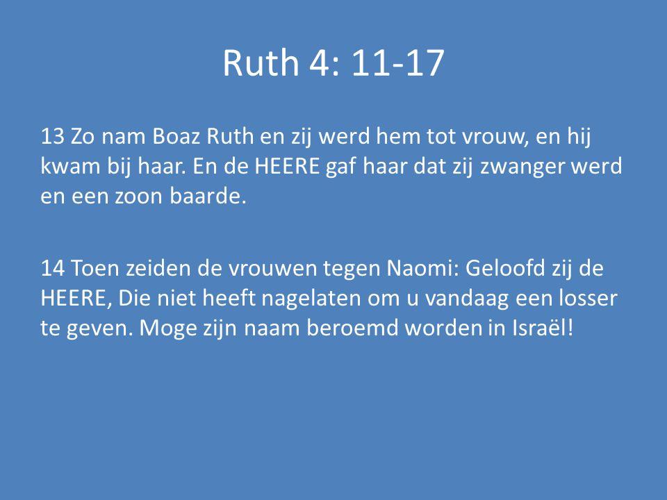 Ruth 4: 11-17