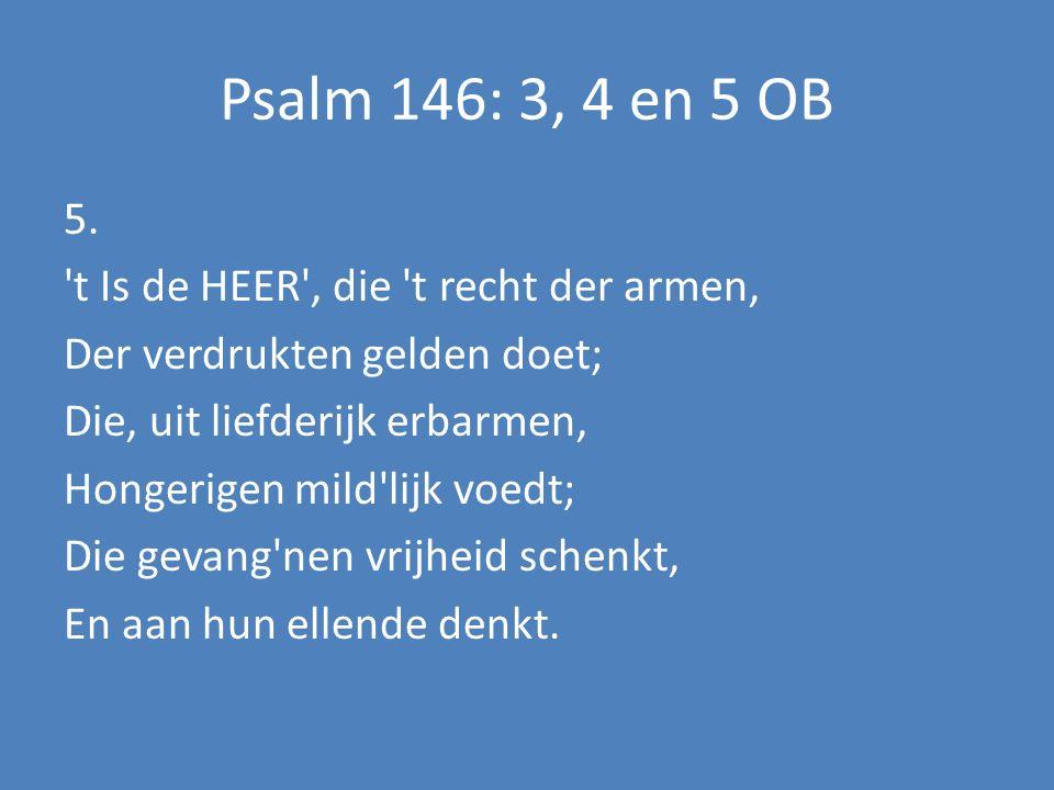 Psalm 146: 3, 4 en 5 OB