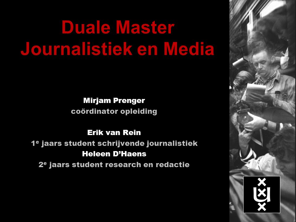 Duale Master Journalistiek en Media