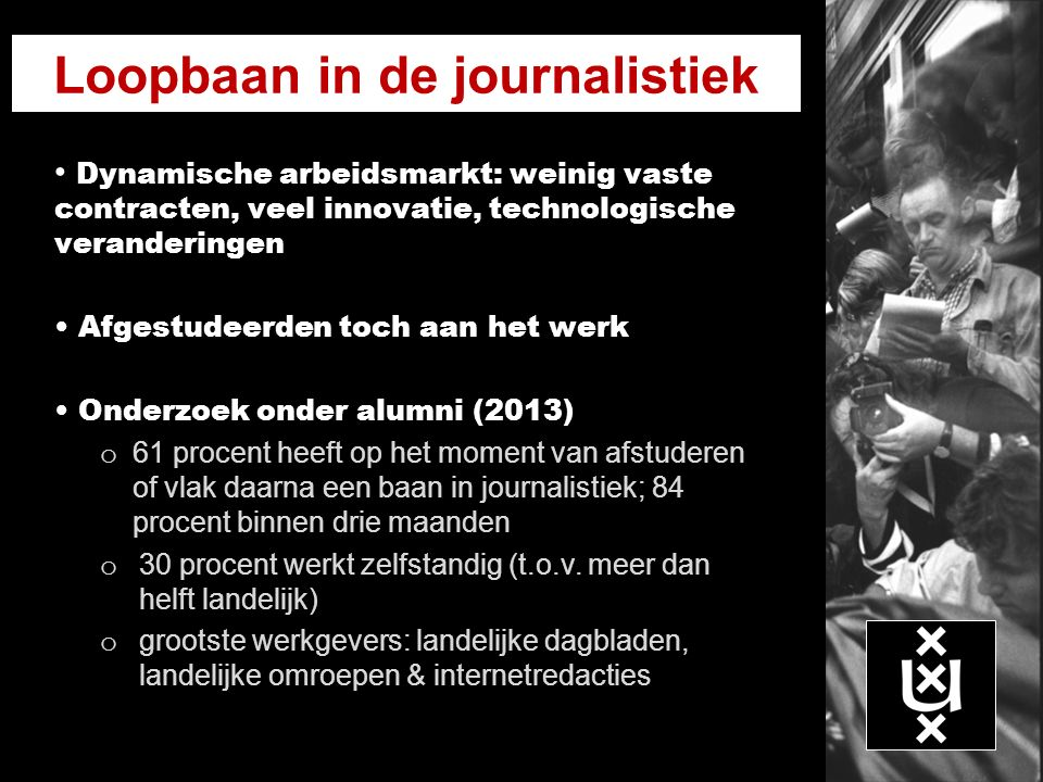 Loopbaan in de journalistiek