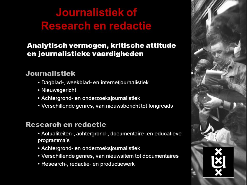 Journalistiek of Research en redactie
