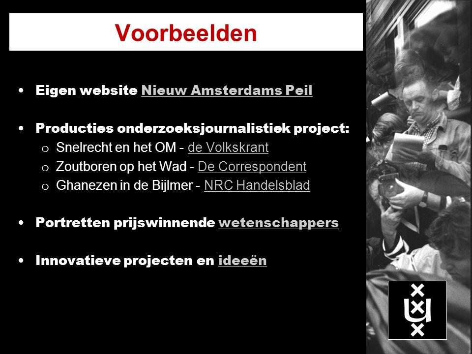 Voorbeelden Eigen website Nieuw Amsterdams Peil