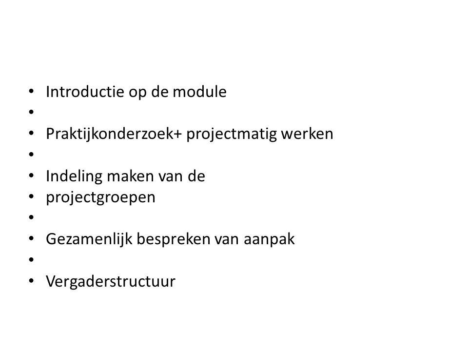 Introductie op de module