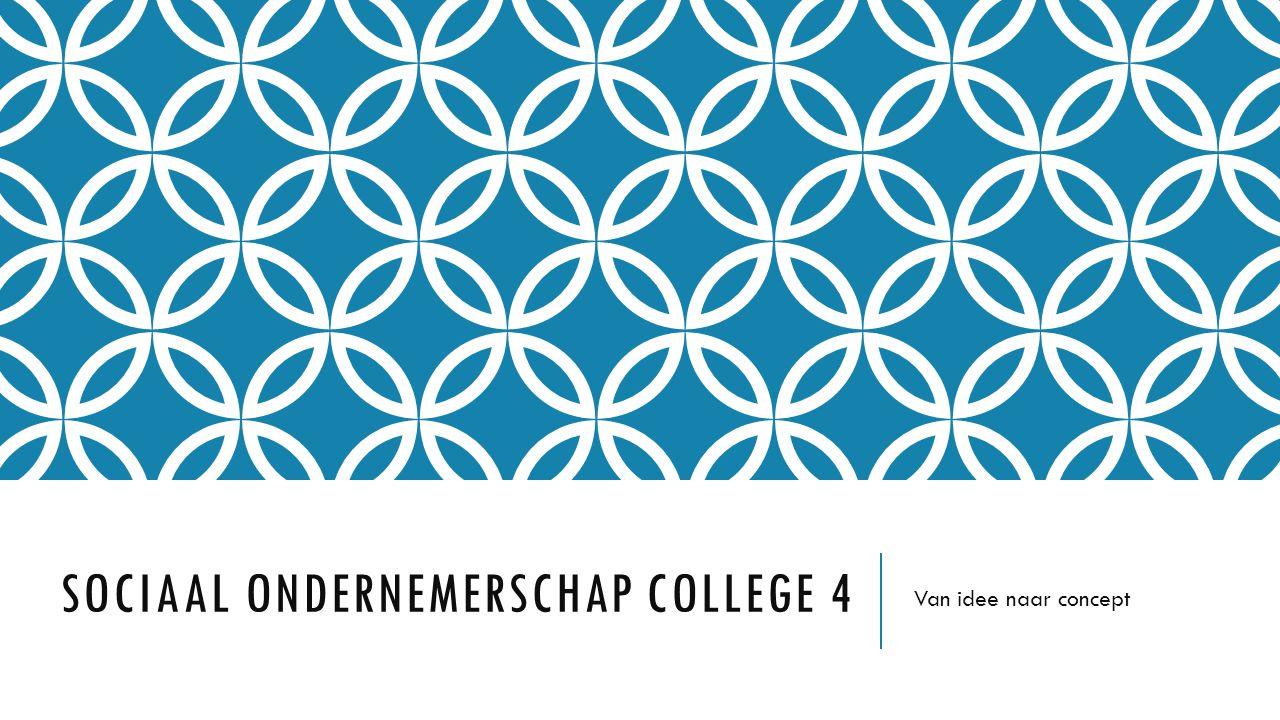 Sociaal Ondernemerschap college 4