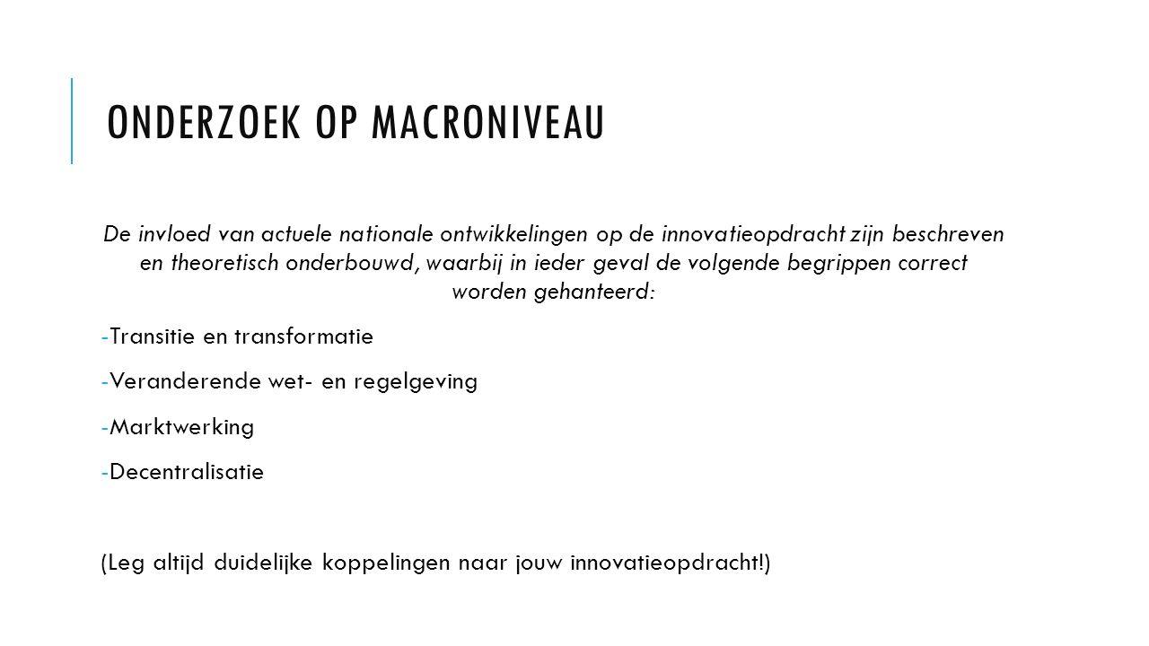 Onderzoek op macroniveau