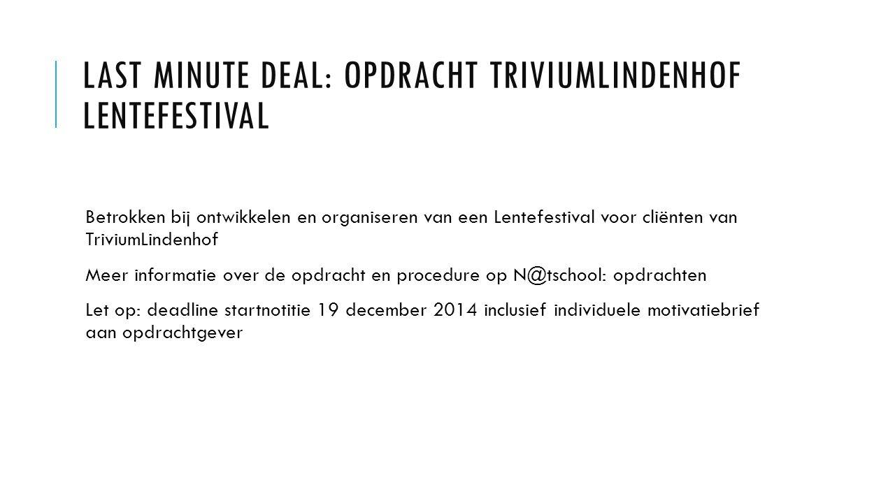 Last minute deal: opdracht TriviumLindenhof Lentefestival