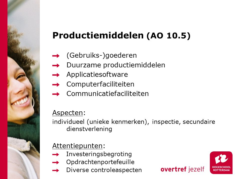 Productiemiddelen (AO 10.5)
