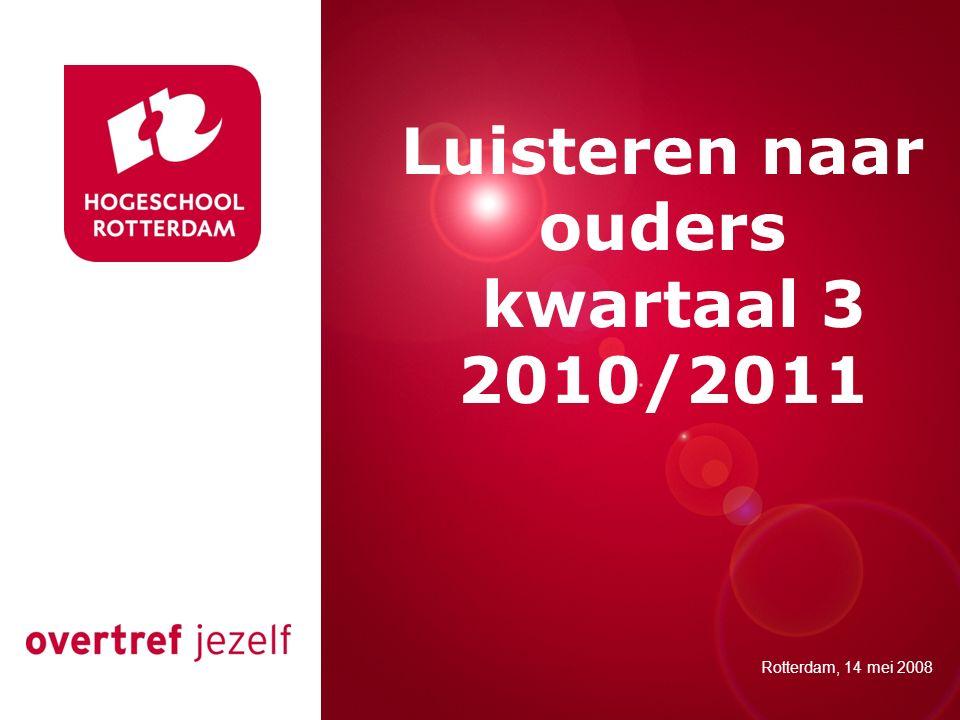 Luisteren naar ouders kwartaal 3 2010/2011 Presentatie titel