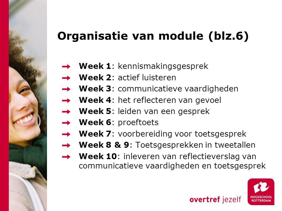 Organisatie van module (blz.6)