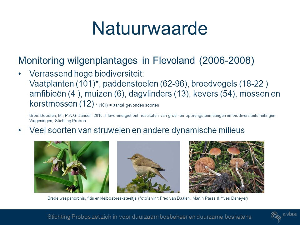 Natuurwaarde Monitoring wilgenplantages in Flevoland (2006-2008)