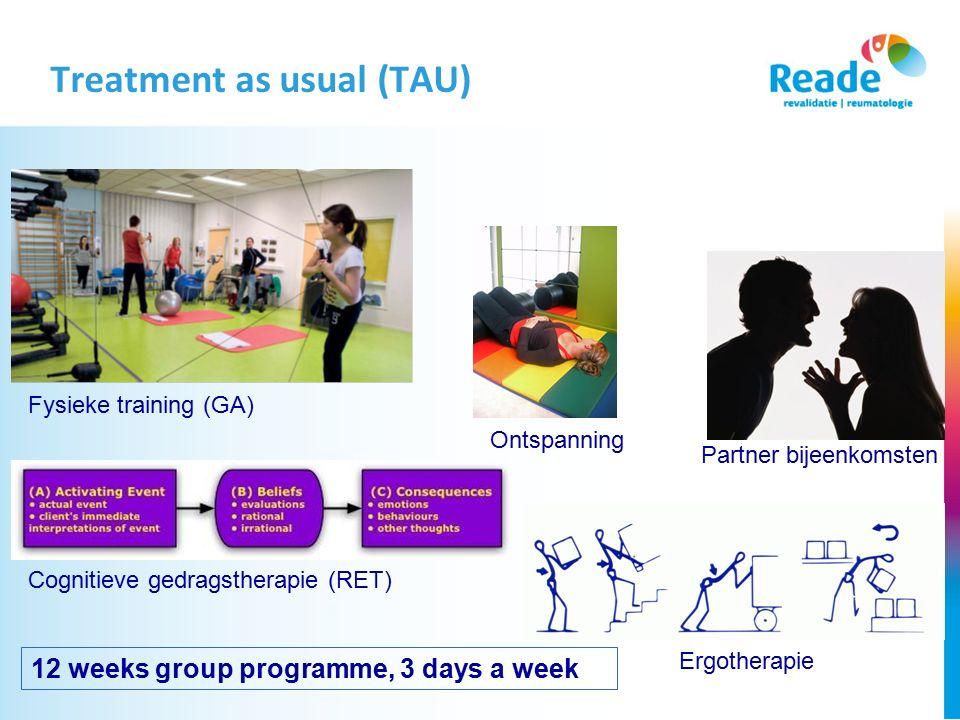 Treatment as usual (TAU)