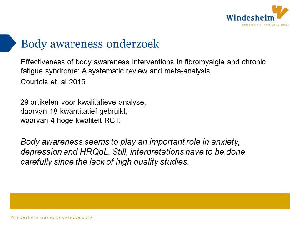 Body awareness onderzoek