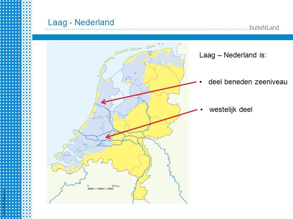 Laag - Nederland Laag – Nederland is: deel beneden zeeniveau