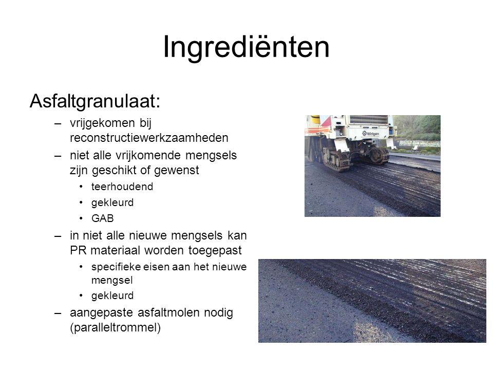 Ingrediënten Asfaltgranulaat: