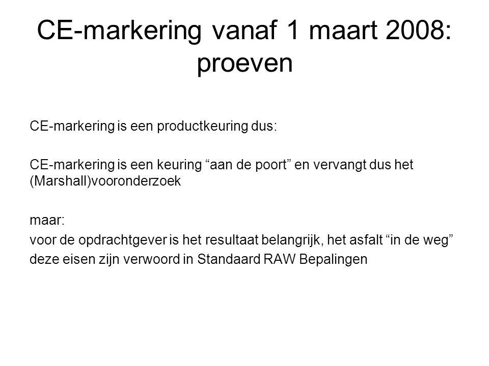 CE-markering vanaf 1 maart 2008: proeven