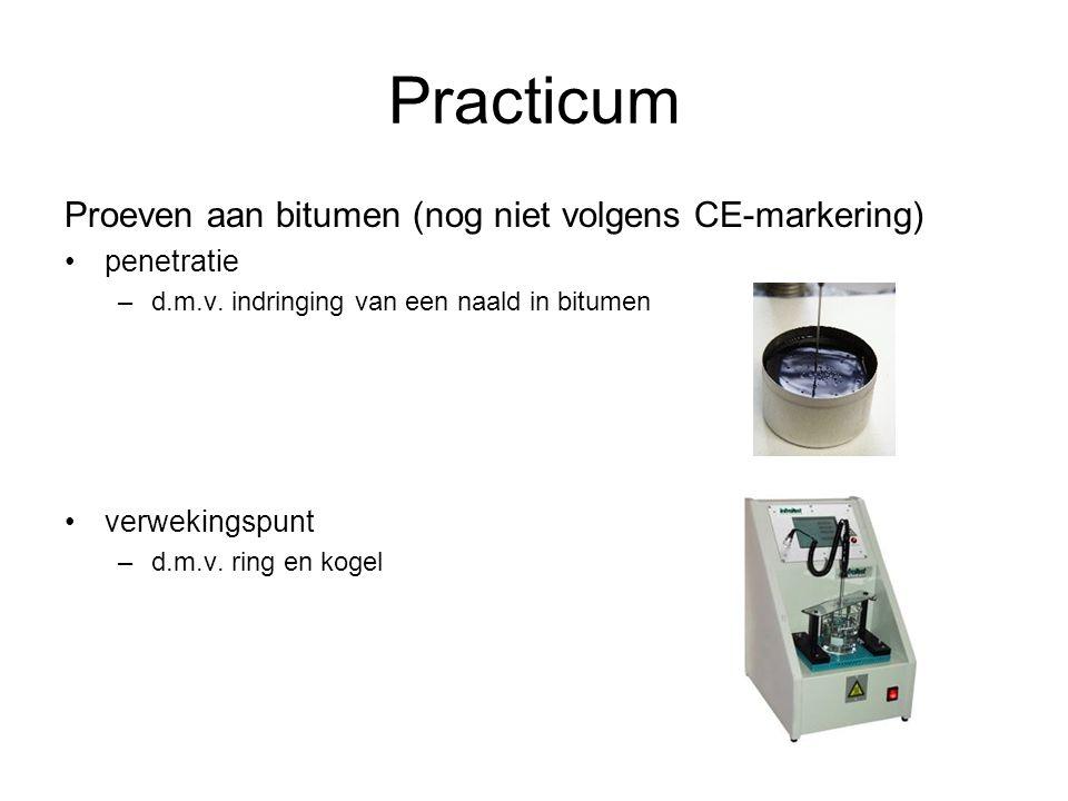 Practicum Proeven aan bitumen (nog niet volgens CE-markering)