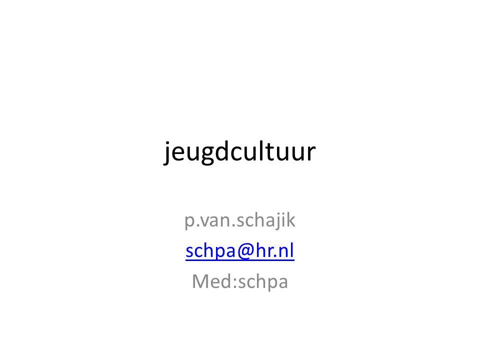 p.van.schajik schpa@hr.nl Med:schpa