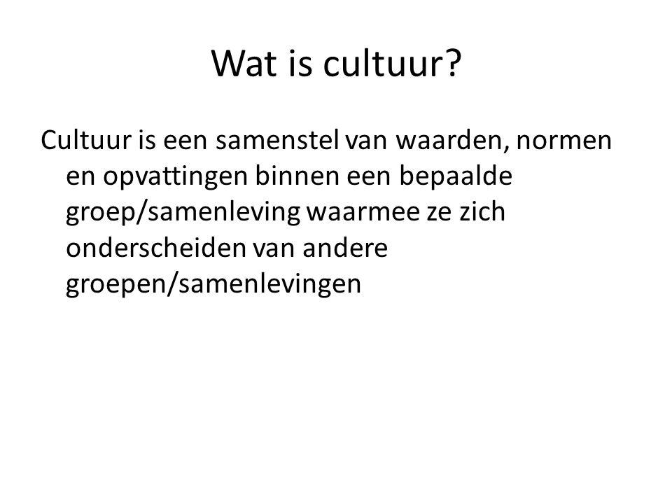 Wat is cultuur