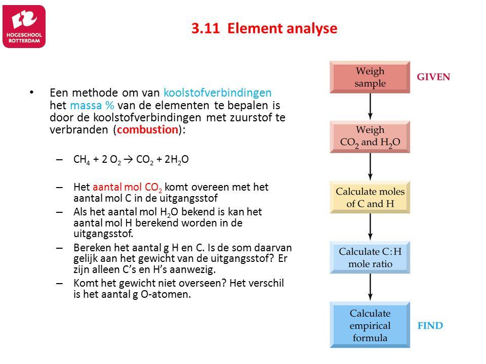 3.11 Element analyse