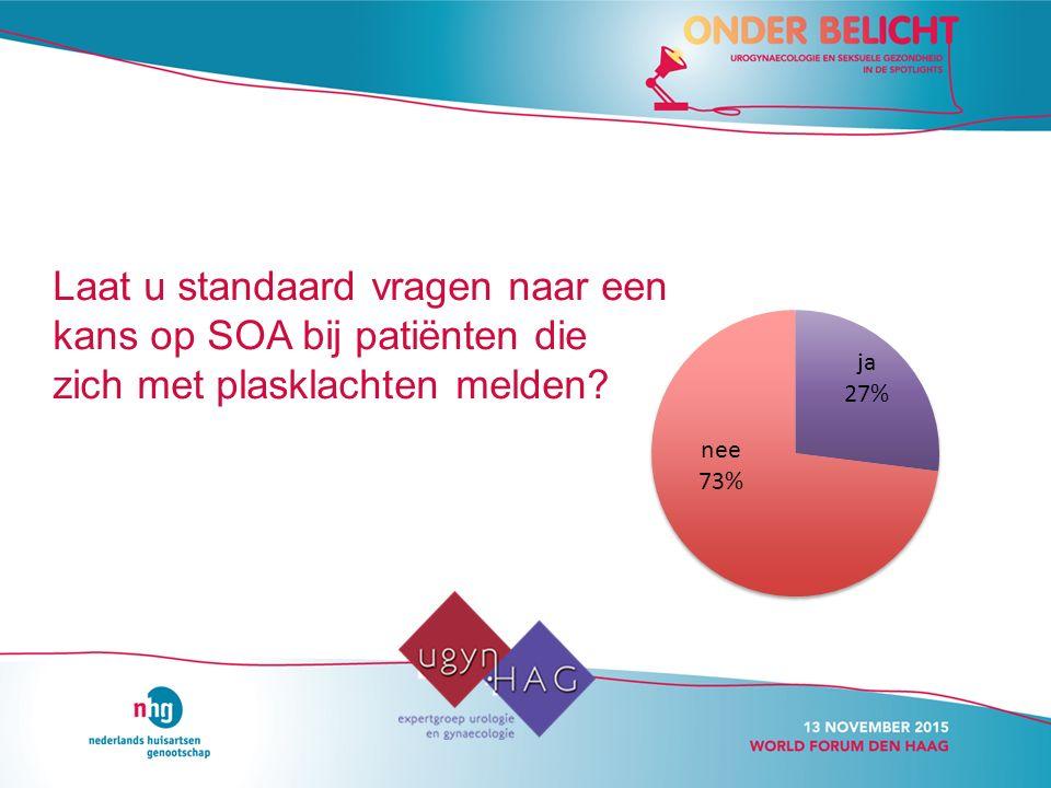Laat u standaard vragen naar een kans op SOA bij patiënten die