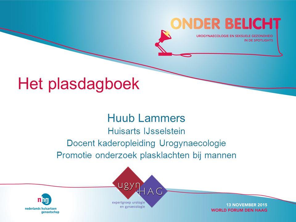 Het plasdagboek Huub Lammers Huisarts IJsselstein