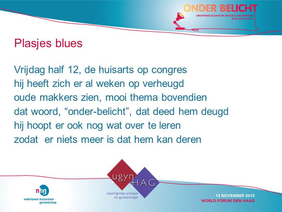 Plasjes blues Vrijdag half 12, de huisarts op congres