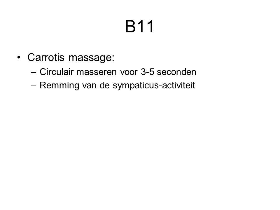 B11 Carrotis massage: Circulair masseren voor 3-5 seconden