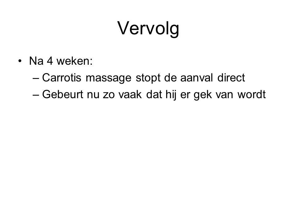 Vervolg Na 4 weken: Carrotis massage stopt de aanval direct