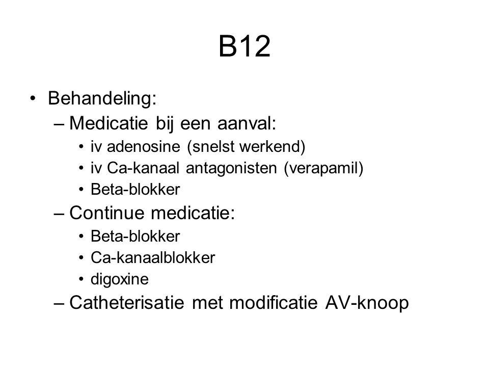 B12 Behandeling: Medicatie bij een aanval: Continue medicatie: