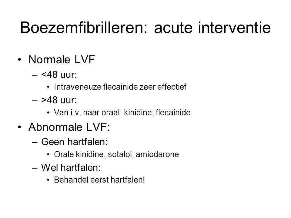 Boezemfibrilleren: acute interventie