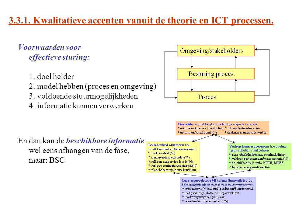 3.3.1. Kwalitatieve accenten vanuit de theorie en ICT processen.