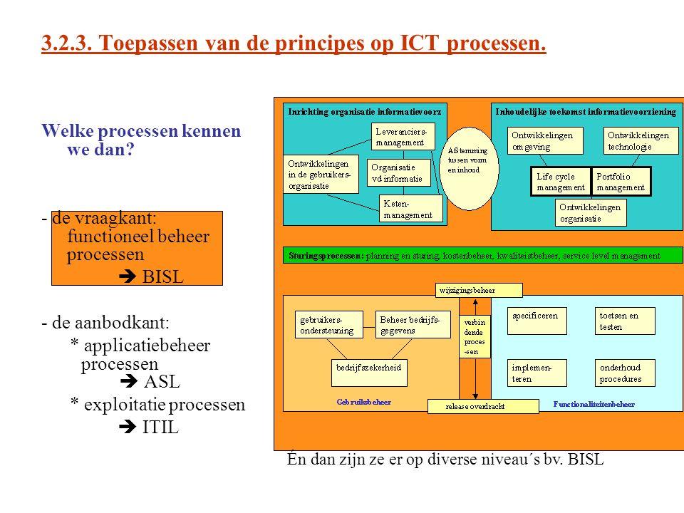 3.2.3. Toepassen van de principes op ICT processen.