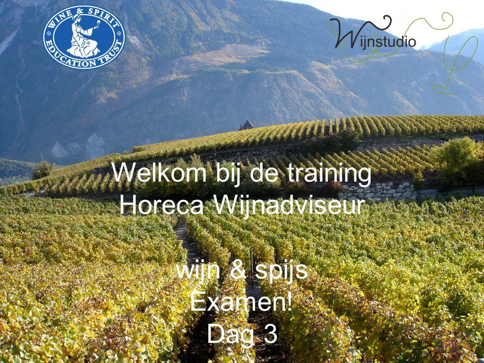 Welkom bij de training Horeca Wijnadviseur